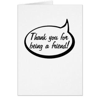 Gracias por ser un amigo tarjeta de felicitación