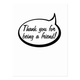 Gracias por ser un amigo postales