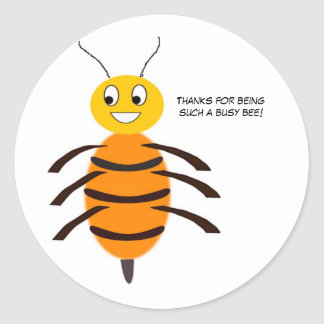 ¡Gracias por ser una abeja tan ocupada! Pegatina Redonda