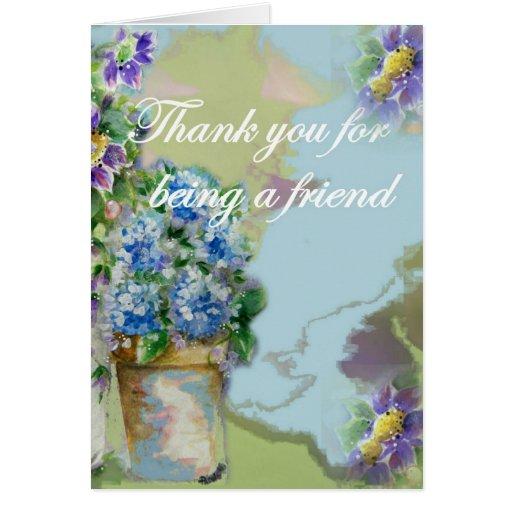 Gracias por ser una tarjeta de felicitación del am
