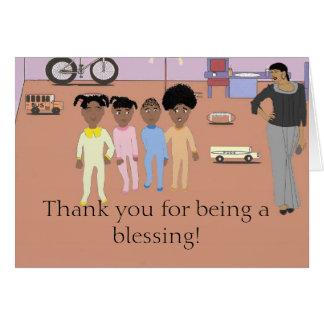 Gracias por ser una tarjeta de la bendición