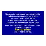 Gracias por servir nuestro país plantilla de tarjeta de visita