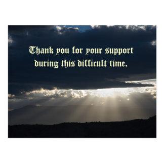 Gracias por su ayuda durante este di… tarjetas postales