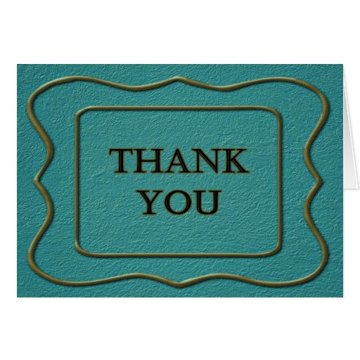 Gracias por su azul del negocio con el marco tarjeta de felicitación