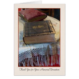 Gracias por su biblia conmemorativa del vintage de tarjeta pequeña