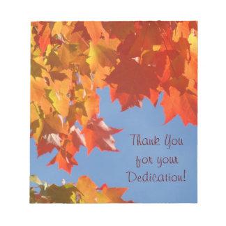 ¡Gracias por su esmero! otoño de las libretas Libretas Para Notas