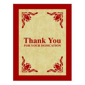 gracias por su esmero tarjeta postal