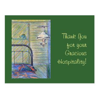 ¡Gracias por su hospitalidad graciosa! Tarjetas Postales