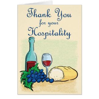 Gracias por su hospitalidad felicitación