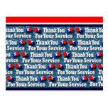 Gracias por su servicio postales