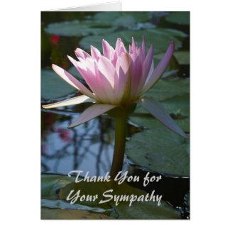 Gracias por su tarjeta de condolencia