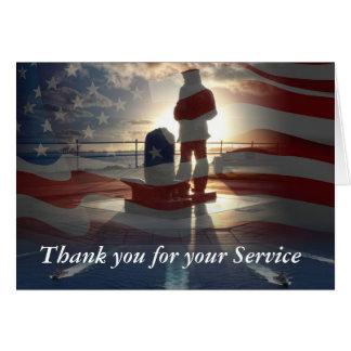 Gracias por su tarjeta de felicitación del servici