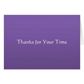 Gracias por su tiempo felicitacion