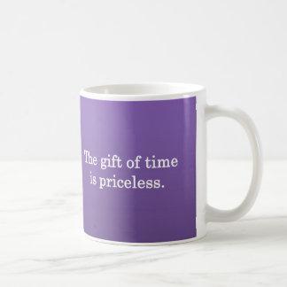 Gracias por su tiempo taza de café