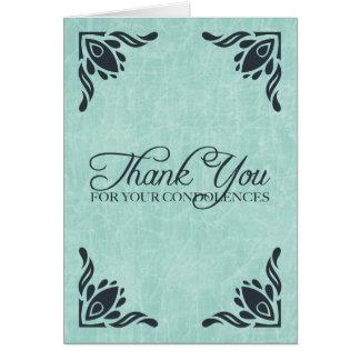 gracias por sus condolencias tarjeta de felicitación