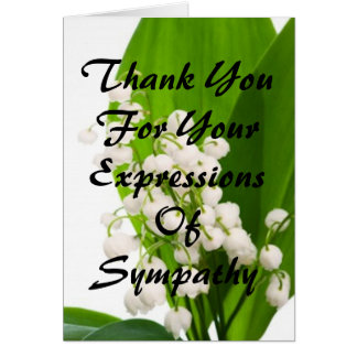 Gracias por sus expresiones de la condolencia tarjeta pequeña