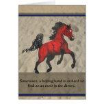Gracias por tarjeta árabe del caballo de la ayuda
