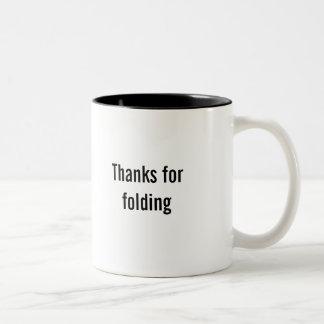 """Gracias por"" taza de café plegable"