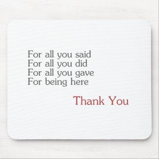 Gracias por todos mouse pad