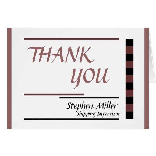 Gracias por uso del negocio tarjeta pequeña