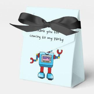 Gracias por venir a mi fiesta (el robot del caja para regalo de boda