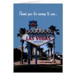 Gracias por venir a nuestra tarjeta de Las Vegas q