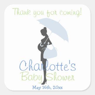 ¡Gracias por venir! Fiesta de bienvenida al bebé Pegatina Cuadrada