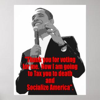 Gracias por votar por mí póster