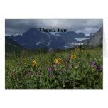 Gracias por Wildflowers de la montaña de la nota d Tarjeton