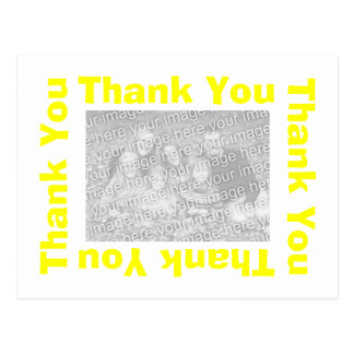 Gracias postal - amarillo