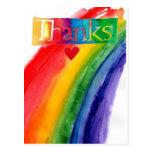 gracias postal del arco iris