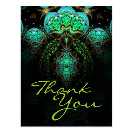 Gracias postal del arte del fractal - modificada p
