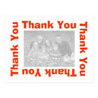 Gracias postal - naranja