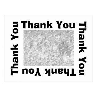Gracias postal - negro
