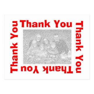 Gracias postal - rojo