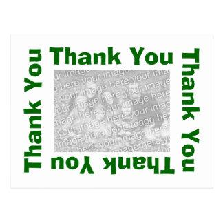 Gracias postal - verde