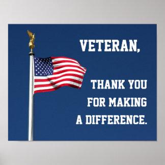 Gracias poster del veterano
