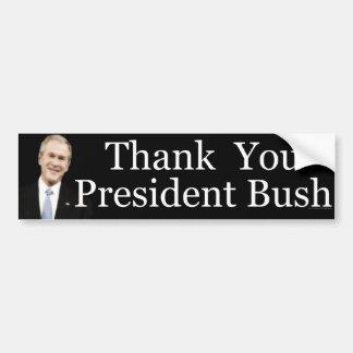 Gracias presidente Bush Pegatina Para Auto