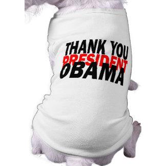 Gracias presidente Obama Playera Sin Mangas Para Perro