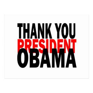 Gracias presidente Obama Postal
