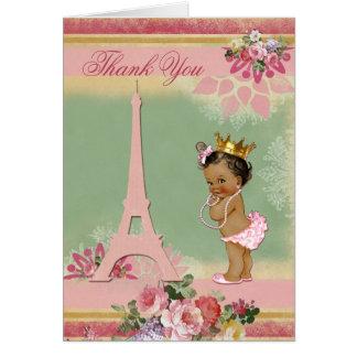 Gracias princesa étnica fiesta de bienvenida al tarjeta pequeña