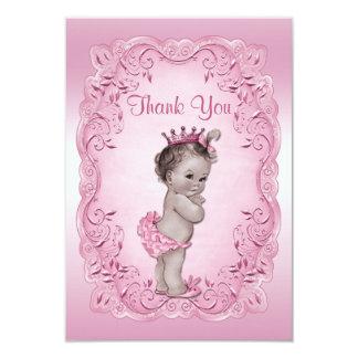 Gracias princesa rosada fiesta de bienvenida al invitación 8,9 x 12,7 cm