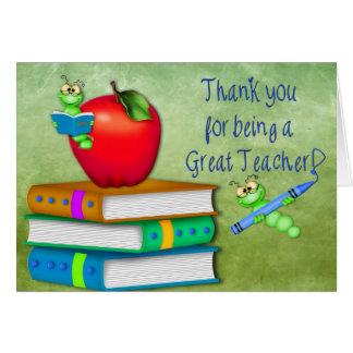 Gracias profesor - artículos de la escuela tarjeta de felicitación