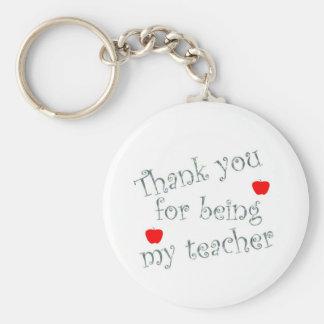 Gracias profesor llavero redondo tipo pin