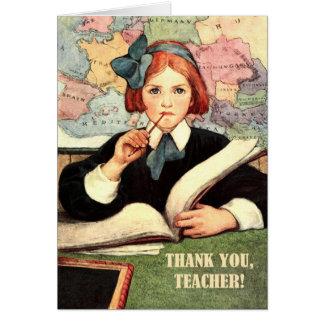 Gracias, profesor. Tarjetas de felicitación adapta