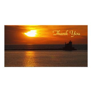 Gracias puesta del sol Photocard Tarjeta Fotografica