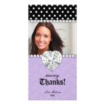 Gracias puntea púrpura del dulce 16 de la joya de  tarjeta personal