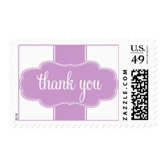 Gracias púrpura del franqueo sellos
