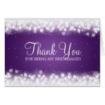 Gracias púrpura mágica de la chispa de la dama de  felicitacion