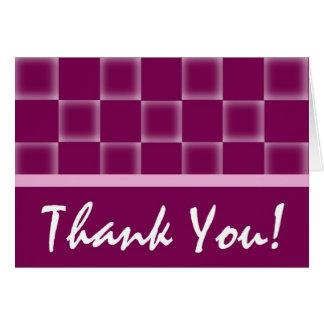 Gracias - púrpura tarjeta de felicitación